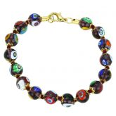 Murano Mosaic Bracelet - Transparent Purple