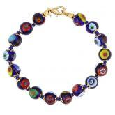 Murano Mosaic Bracelet - Navy Blue