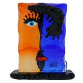 Murano Glass Picasso Head Rectangular