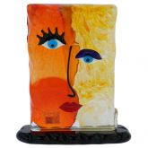 Murano Glass Picasso Head Of A Woman Rectangular