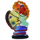Murano Glass Picasso Heads Of Man And Woman