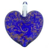 Tender Heart Pendant- Purple and Silver Swirl