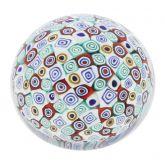 Murano Millefiori Round Paperweight - Small - 2 Inches