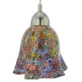 Murano Glass Pendant Light - Millefiori Gold