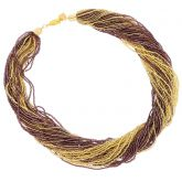 Dogaressa 48 Strand Necklace - Gold and Purple