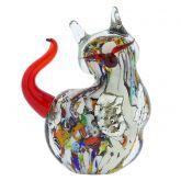 Murano Glass Plump Cat - Multicolor