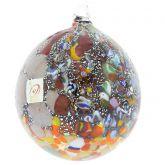 Millefiori Silver Foil Murano Glass Christmas Ornament