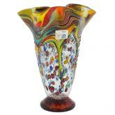 Murano Millefiori Fazzoletto Vase - Multicolor