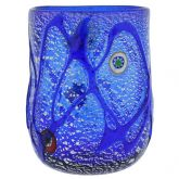 Blue Swirls Murano Glass Tumbler