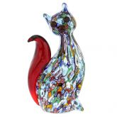 Murano Art Glass Millefiori Cat Sculpture