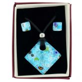 Venetian Reflections Necklace and Earrings Set - Silver Meadow