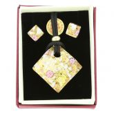 Venetian Reflections Necklace and Earrings Set - Purple Gold