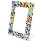 Murano Glass Millefiori Photo Frame Multicolor 4X6 Inch