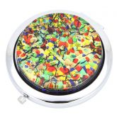 Murano Millefiori Folding Compact Mirror - Golden Meadow