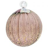 Murano Glass Medium Christmas Ornament - Purple