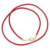 Silk Cord - ruby red