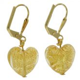 Ca D'Oro Murano Heart earrings - Yellow Gold