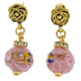 Magnifica Antique Stud Balls Earrings - Tender Rose