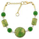 Ca D'Oro Murano Bracelet - Emerald Green