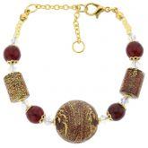 Ca D'Oro Murano Bracelet - Ruby Red