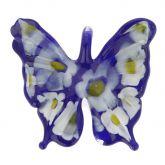 Blue Daisy Butterfly Pendant
