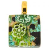 Venetian Reflections Square Pendant #7