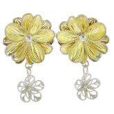 Daisy Flower Sterling Silver Gold-Plated Earrings