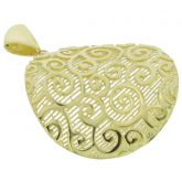 Graceful Twists Sterling Silver Gold-Plated Pendant
