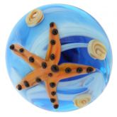 Ocean Life Adjustable Domed Murano Ring