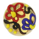 Spring Flowers Adjustable Murano Ring
