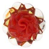 Red Rose Adjustable Murano Ring