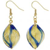 Royal Blue Spiral Earrings