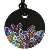 Matte Millefiori Round Necklace - Black