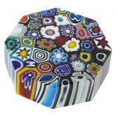Murano Millefiori Murano Glass Millefiori Octagon - Medium