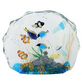 Large Murano Glass Aquarium With Fish And Sea Life - 10 fish