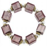 Brillio Venetian Cubes Bracelet - Purple