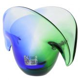 Clam Seashell Murano Glass Bowl - Green and Blue