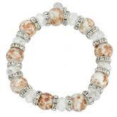 Murano Symphony Stretch Bracelet - White