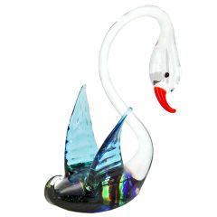 Striped Glass Swan