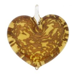 Avventurina Honey Heart Pendant