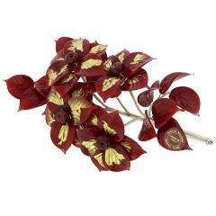 Murano Glass Red Flowers on a Branch
