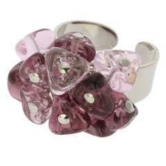 Preziosa Murano Glass Ring - Amethyst