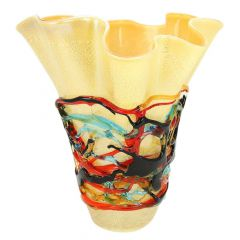 Murano Glass Vesuvio Abstract Art Vase