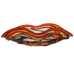 Murano Glass America Centerpiece Bowl