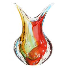 Murano Art Glass Sommerso Vase - Venetian Sunrise