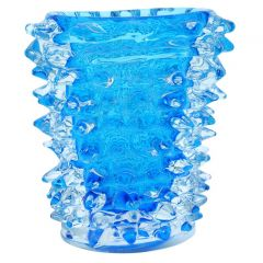Murano Glass Vase - Aqua Blue With Spikes