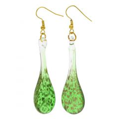 Starlight Icicle Earrings - Emerald