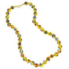 Murano Mosaic Necklace - Yellow