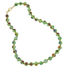 Murano Mosaic Necklace - Seafoam Green
