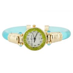 Murano Millefiori Bangle Watch - Aqua